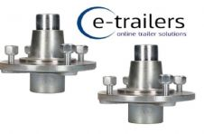 Pair of Hubs for Erde Trailers 102 122 132 PM300 PM310 & Daxara 107 127 137